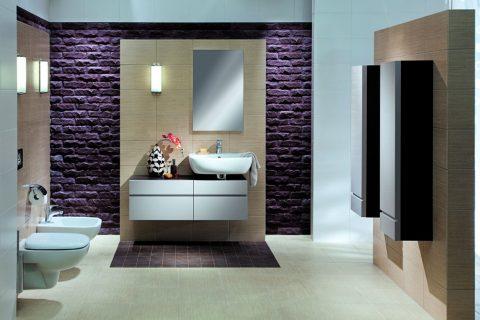 Ciekawa kolorystyka łazienki