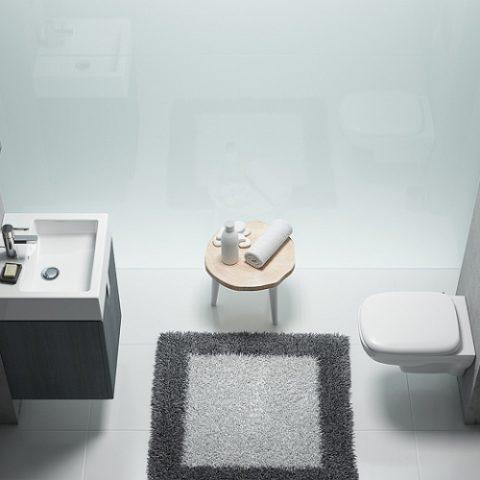 Mała, stylowa łazienka