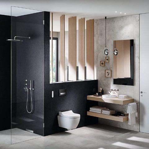 Nowoczesna łazienka bez płytek