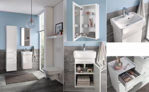 Szaro niebieska łazienka
