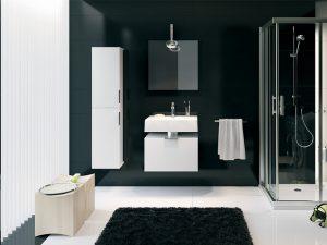 Klasyczna grafitowa łazienka