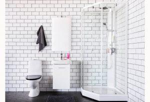 Oryginalna, jasna łazienka