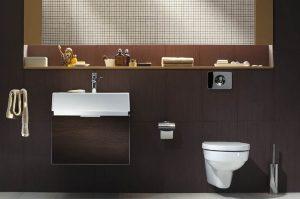Elegancka brązowa łazienka